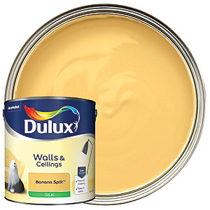 Dulux Silk Emulsion Paint - Banana Split 2.5L