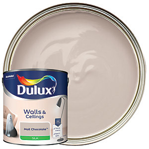 Dulux Silk Emulsion Paint - Malt Chocolate 2.5L