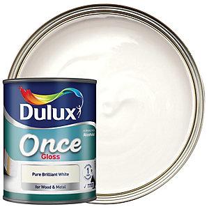 Dulux Once Gloss Paint - Pure Brilliant White 2.5L