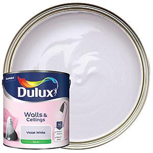 Dulux Silk Emulsion Paint - Violet White 2.5L