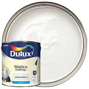 Dulux Matt Emulsion Paint - White Cotton 2.5L