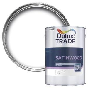 Dulux Trade Interior Brilliant White Satinwood Multipurpose Paint 5L