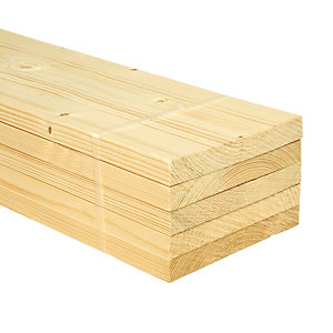 Wickes Whitewood PSE Timber - 18 x 144 x 2400 mm Pack of 5