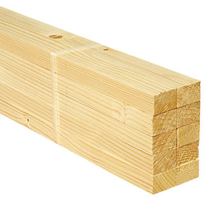 Wickes Whitewood PSE Timber - 18 x 28 x 2400 mm Pack of 10
