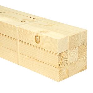 Wickes Whitewood PSE Timber - 34 x 34 x 2400 mm Pack of 9