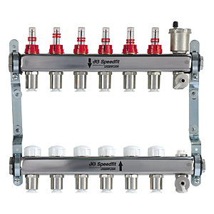 JG Speedfit Underfloor Heating 6 Zone Manifold