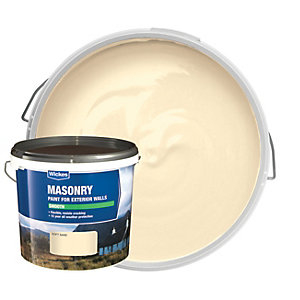 Wickes Smooth Masonry Paint - Soft Sand 5L