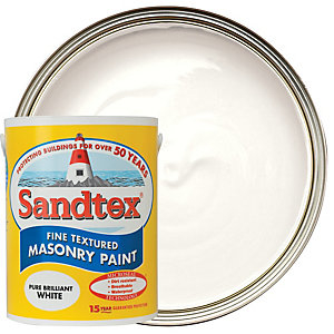 Sandtex Fine Textured Masonry Paint - Pure Brilliant White 5L