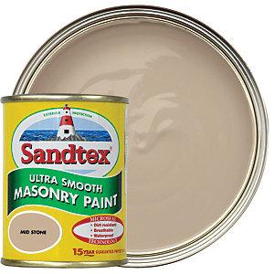 Sandtex Ultra Smooth Masonry Paint - Mid Stone 150ml