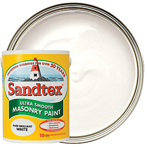 Sandtex Ultra Smooth Masonry Paint - Pure Brilliant White 5L