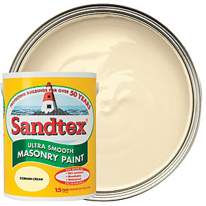 Sandtex Ultra Smooth Masonry Paint - Cornish Cream 5L