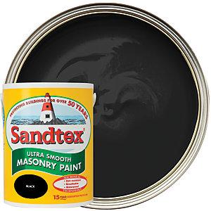 Sandtex Ultra Smooth Masonry Paint - Black 5L