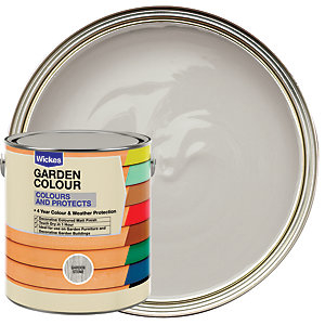 Wickes Garden Colour Matt Wood Treatment - Garden Stone 2.5L