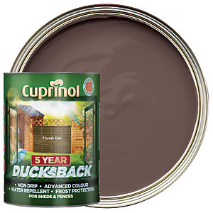 Cuprinol 5 Year Ducksback Matt Shed & Fence Treatment - Forest Oak 5L