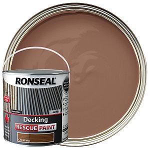 Ronseal Rescue Decking Paint - Chestnut 2.5L
