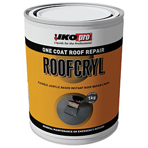 Ikopro Roofcryl One Coat Acrylic Based Roof Repair - Grey 1kg