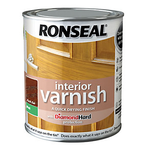 Ronseal Interior Varnish - Matt Dark Oak 750ml