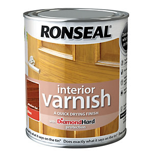 Ronseal Interior Varnish - Gloss Medium Oak 750ml