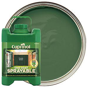 Cuprinol One Coat Sprayable - Forest Green 5L