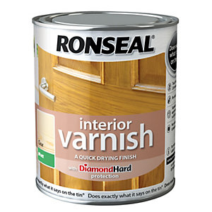 Ronseal Interior Varnish - Matt Clear 750ml