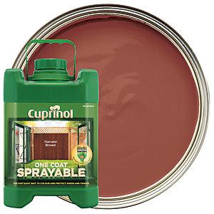 Cuprinol One Coat Sprayable - Harvest Brown 5L