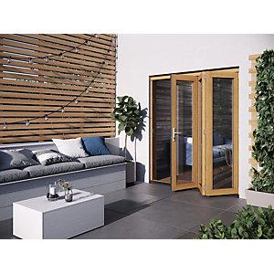 Jeld-Wen Kinsley Finished Solid Hardwood Patio Bifold Door Set Golden Oak - 2094 x 1794 mm