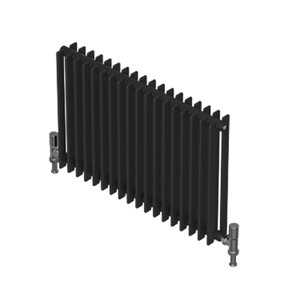 QRL Adagio Horizontal Multi-Column Designer Radiator - Matt Charcoal 500 x 1190 mm