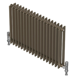 QRL Adagio Horizontal Multi-Column Designer Radiator - Bronze 600 x 1610 mm