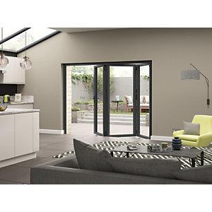 Jci Aluminium Bi-fold Door Set Grey Left Opening 2090 x 2990mm