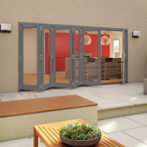 Grey Timber Glazed Patio Patio Door  (H)2094mm (W)4194mm
