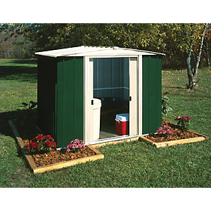 Rowlinson 8 x 6 ft Double Door Metal Apex Shed without Floor
