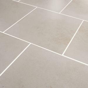 Konkrete Ivory Matt Concrete effect Porcelain Floor tile  (L)426mm (W)426mm  Sample