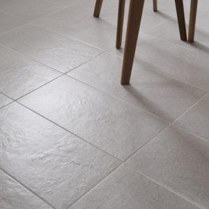 Milestone Ivory Matt Concrete effect Porcelain Floor tile  Pack of 8  (L)307mm (W)617mm