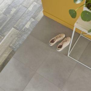 Konkrete Grey Matt Concrete effect Porcelain Floor tile  Pack of 10  (L)426mm (W)426mm