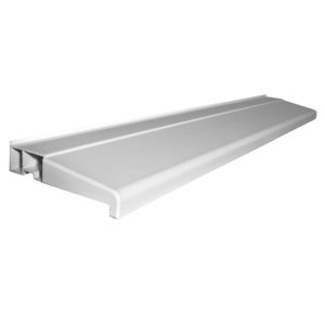 White PVCu Window sill (H)30mm (L)1000mm (D)150mm