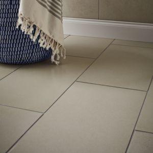 Konkrete Ivory Matt Concrete effect Porcelain Floor tile  Pack of 8  (L)307mm (W)617mm