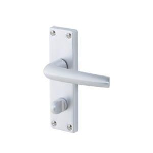 Amga Satin Sand silver effect Internal Straight Latch Door handle  Pair