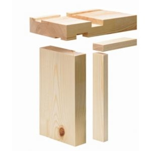 Timber Unfinished Internal Door lining set (W)132mm