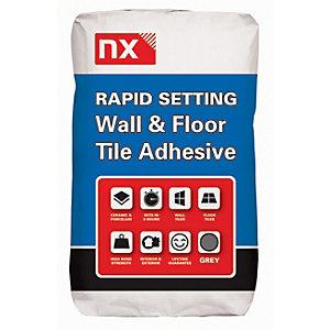 Norcros Rapid Setting Tile Adhesive Grey - 20kg