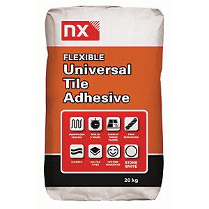 Norcros Universal Flexible Tile Adhesive White 20kg