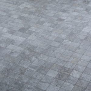 Shaded Slate Grey Stone effect Porcelain Mosaic tile  (L)305mm (W)305mm