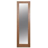 1 Panel Shaker Oak Veneer Glazed Internal Standard Door  (H)1981mm (W)579mm